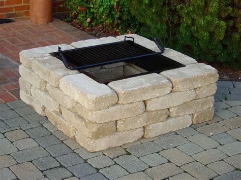 Square Fire Pit Kit From Southern Tradition Square Firepits
