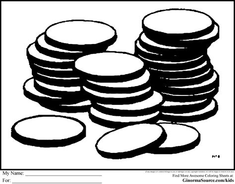 silver coin coloring page coloring pages