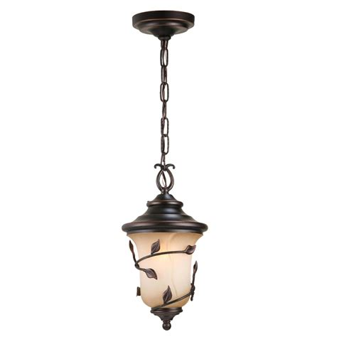 Allen And Roth Pendant Light Shop Allen Roth Eastview 15 25 In Rubbed Bronze Outdoor Pendant Light At Lowes