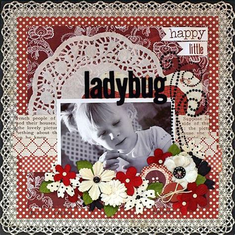 ladybug scrapbook layout happy little ladybug scrapbook com vintage