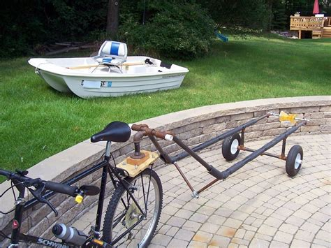 tow boat and trailer tow a boat with a bike small boats boating and boat plans