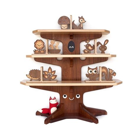 sale woodland happy tree bookshelf with 4 bookends