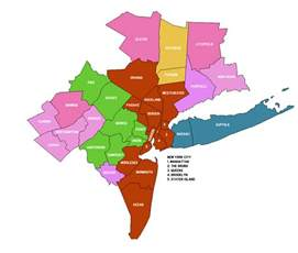 Map Of New York City Suburbs by New York Metropolitan Area