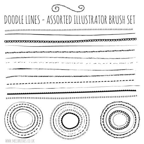 doodle pattern illustrator free illustrator brushes natural sketch doodle lines set