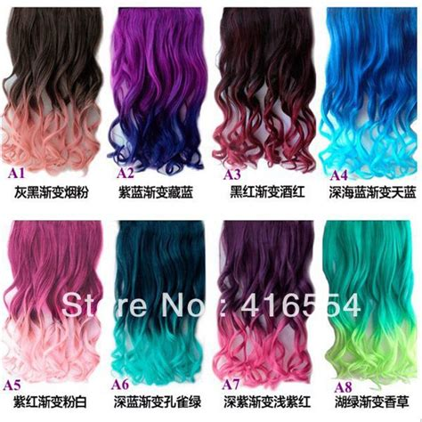 Shades Of Red List by New Long Color Hair Ponytail Synthetic Hair Extension With