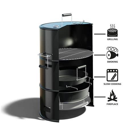 pit and bbq grill barrel smoker and barbecue pit grill