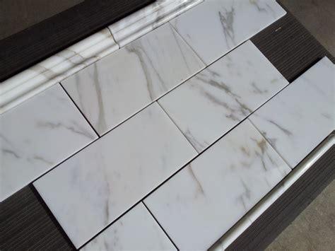 calacatta borghini italian marble 6x12 quot subway tile - 6x12 Subway Tile