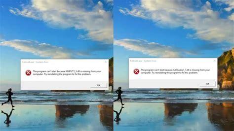 windows 10 quick tutorial fix x3daudio1 7 dll xinput1 3 dll on windows 10 quick