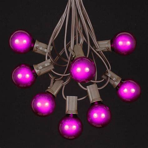 Purple String Lights by Purple G40 Globe Outdoor String Light Set On Brown Wire Novelty Lights Inc