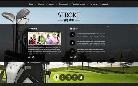 free golf website templates golf website template free template
