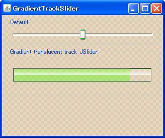 java swing slider java swing tips gradient translucent track jslider