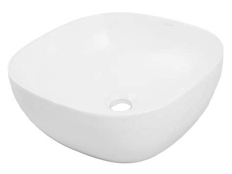 above counter ceramic square vessel decolav square above counter lavatory dl 1488 cwh