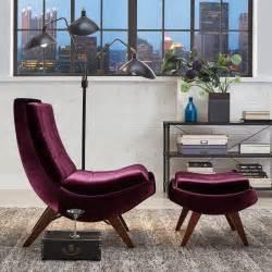 purple velvet chair and ottoman homesullivan purple velvet chair with ottoman 40876s350s