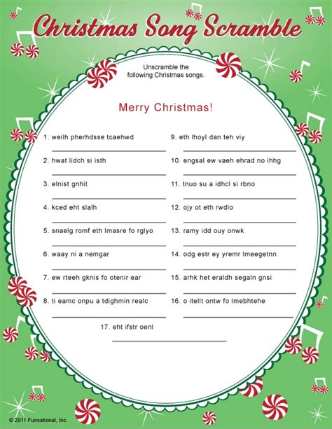 printable christmas carol word games crazy christmas carols printable a girl and a glue gun