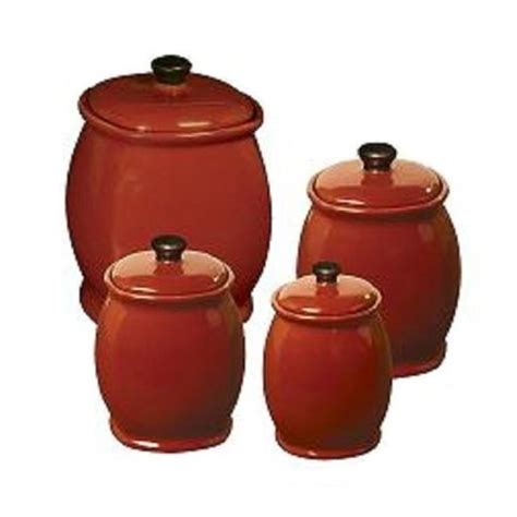 red kitchen canister 5 best red canister set convenient and attractive