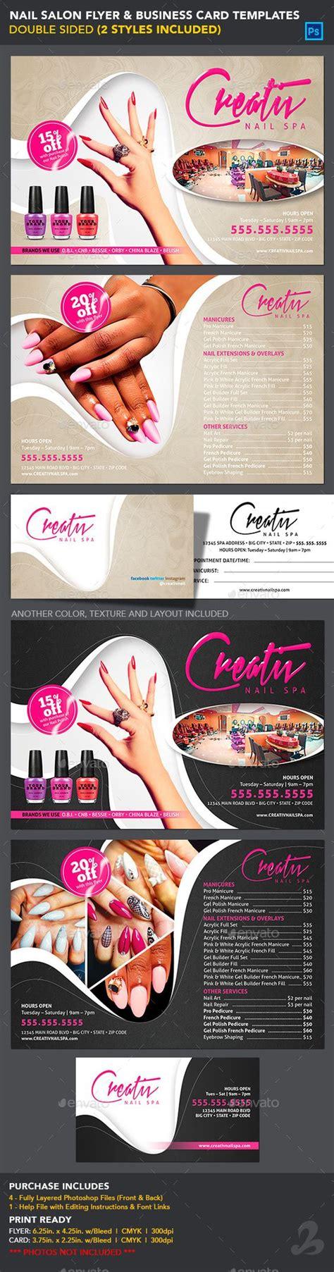 flyer templates nail salon nail salon flyer business card templates business card