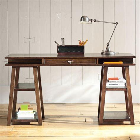 vintage wood computer desk desk bookcase simple desktop