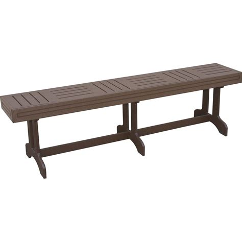 foot benches eagle one monterey recycled plastic 6 foot patio dining