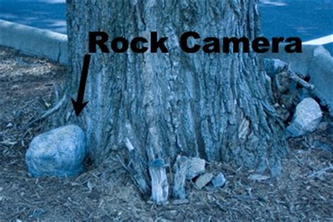 rock hidden video security camera outdoor motion activated