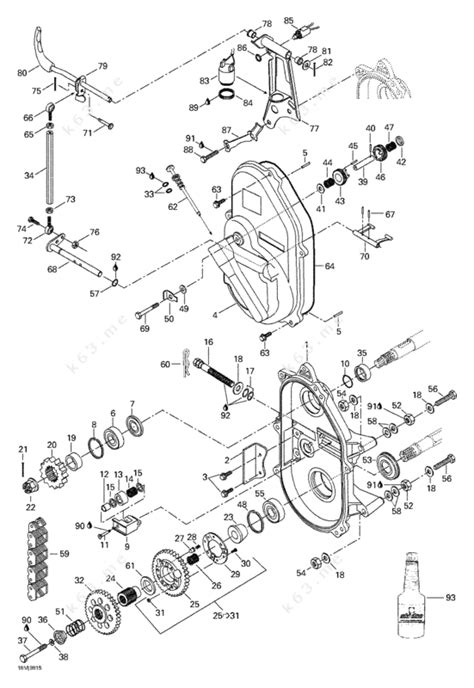 skidoo parts diagram ski doo 1998 mach 1 r transmission parts catalog