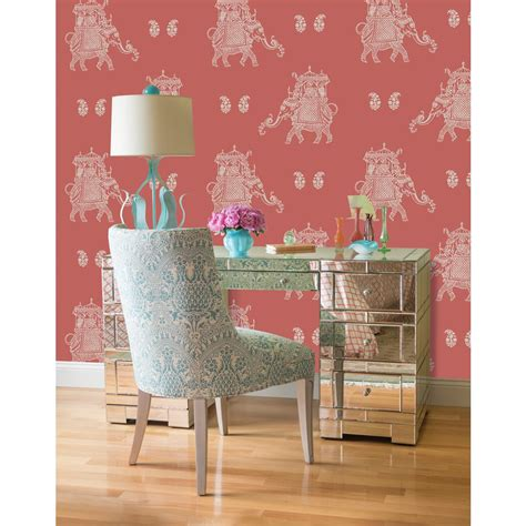 red peel and stick wallpaper nuwallpaper red caravan peel and stick wallpaper nu2078
