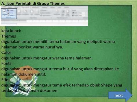 fungsi layout pada ppt presentation fungsi menu pada icon