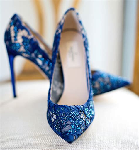 Blue Bridal Shoes by Wedding Shoes Something Blue Bridal Shoes Inside Weddings