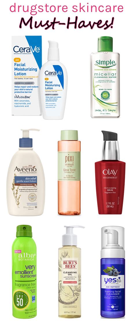 best care products the best drugstore skincare products for sensitive skin