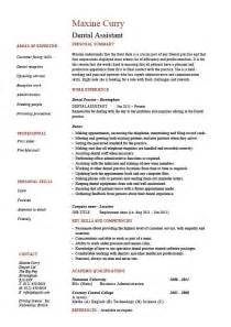 dental assistant resume dentist exle sle