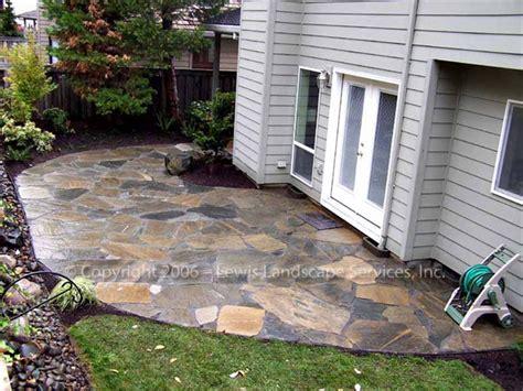 stone slate for backyard lewis landscape services beaverton oregon flagstone