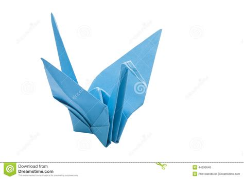 Origami Blue Bird - origami blue bird paper stock photo image 44595646