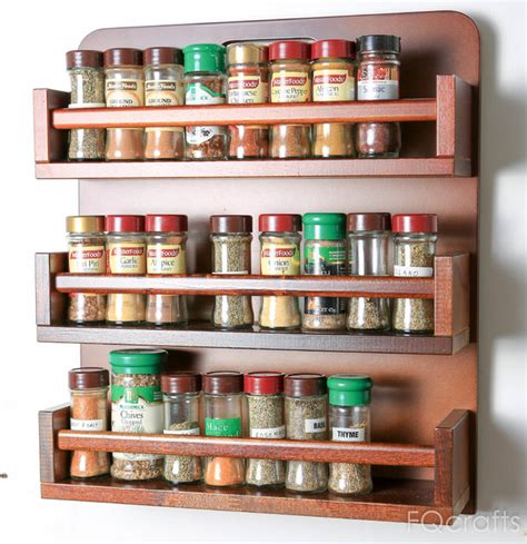 How To Make Spice Racks For Kitchen Cabinets 24 Designs Patterns For Your New Spice Rack Patterns Hub
