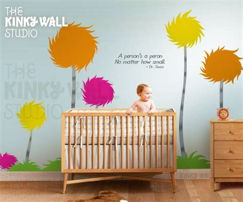 Dr Seuss Nursery Wall Decals Children Wall Decals Wall Sticker Lorax Truffula Trees Wall Decal Dr Seuss Trees Lighter