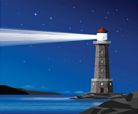 light house at night royalty free lighthouse at night clip art vector images illustrations istock