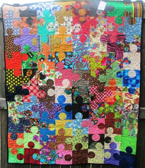 Quilting Puzzles by Puzzle Pieces Quilt