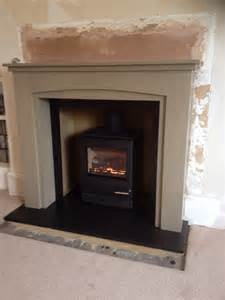 yeoman cl5 gas stove with wood surround painted