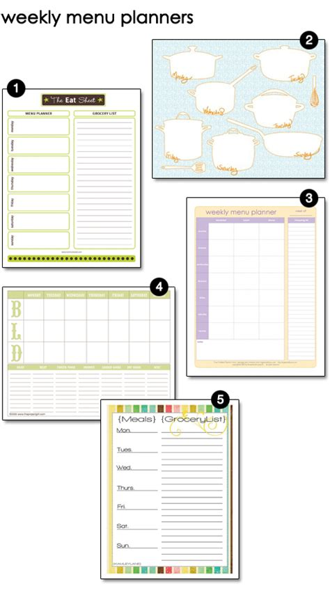 printable housekeeping planner awesome free checklist printables weekly menu grocery