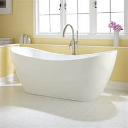 Free Bathtub by Acrylic Slipper Tub Bathroom