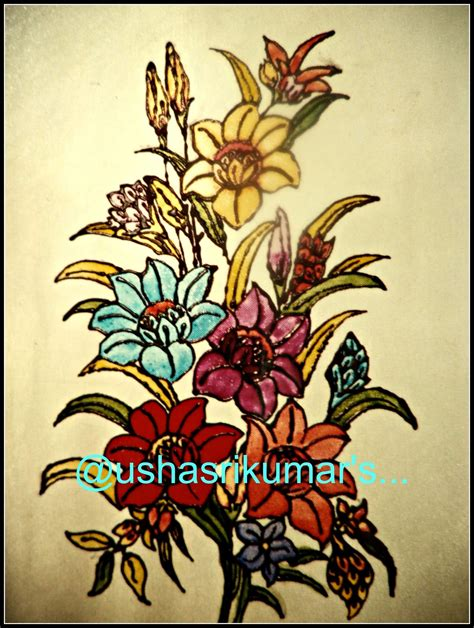 flower design in glass usha srikumar s musings a bunch of flowers a stained