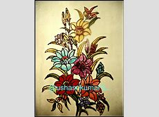 USHA SRIKUMAR'S MUSINGS...: A BUNCH OF FLOWERS -A STAINED ... Easy Flower Designs For Glass Painting