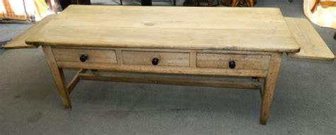 large scrubbed oak kitchen table 220015