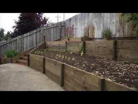 build  retaining wall  cheap garden retaining