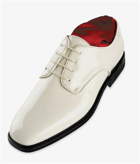 mens after six st010 tuxedo formal dress shoes white patent ebay