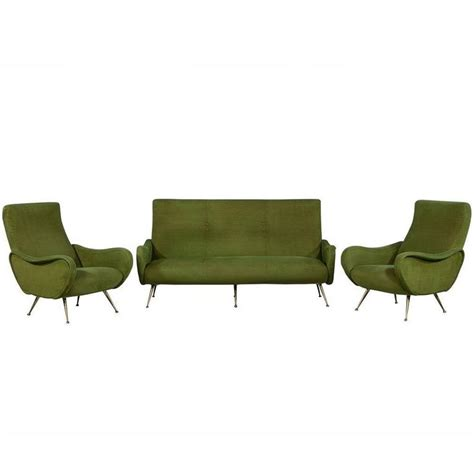 Sofa And Armchair Set by Retro Three Sofa And Armchair Set In Style Of Gio