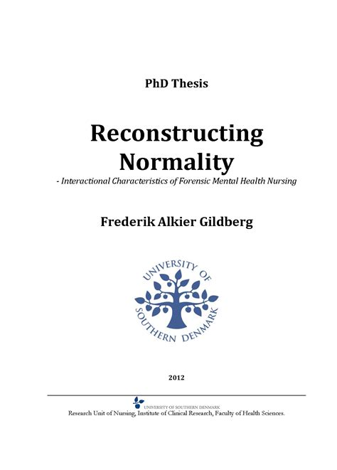 dissertation nursing masters thesis nursing