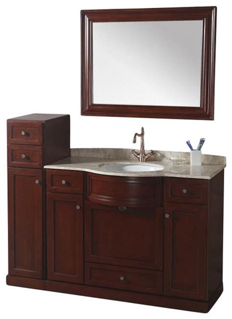 43 inch transitional single sink bathroom vanity