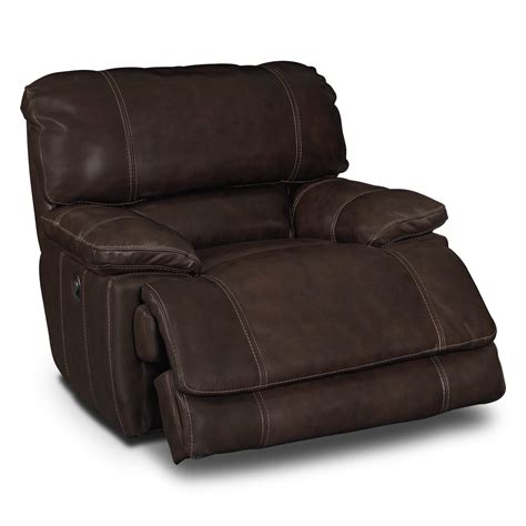 Powered Recliners by American Signature Furniture St Malo Leather Power Recliner