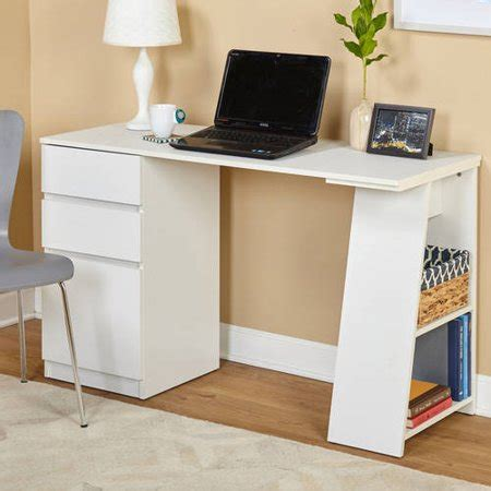 writing desk with storage como writing desk with 3 storage drawers colors