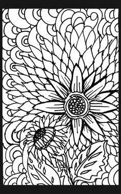 trippy flowers canvas print canvas art  abby keller