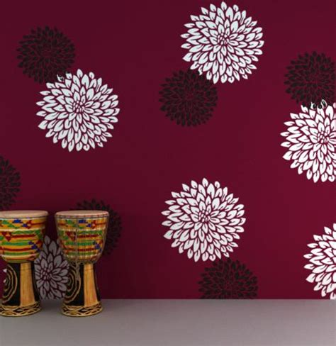 flower design for wall painting online shopping india shop online for wall stencils